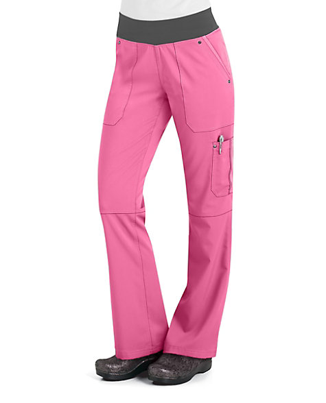 Surround yourself in comfort with the popular Healing Hands Purple Label Tori yoga scrub pants! These sporty straight leg pants are made of a luxurious stretch material and yoga inspired waistband that gives you the feeling of wearing yoga pants at work!