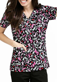 Med Couture Anna Full Of Faith Print Scrub Tops