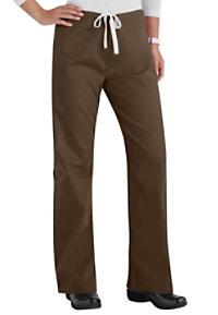 Urbane Essentials Relaxed Leg Drawstring Scrub Pants