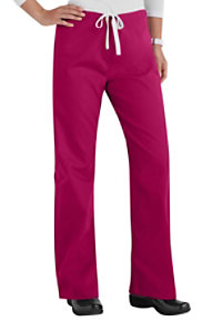 Urbane Essentials Relaxed Leg Drawstring Scrub Pants