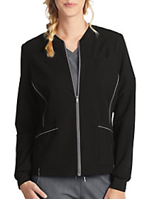 Zip Front Scrub Jacket
