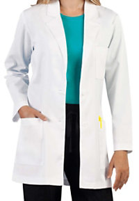 Med Couture Women's 33 Inch 2 Buttons Lab Coats