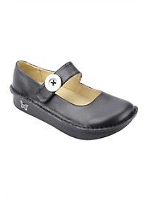Paloma Black Nappa Slip Resistant Clogs