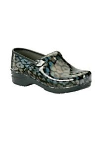 Dansko Pro XP Iridescent Leopard Nursing Clogs
