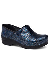 Dansko Professional Wavy Stripes Patent Nursing Clogs
