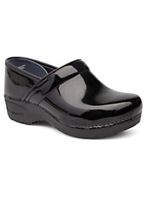 Black Patent Nursing Clogs