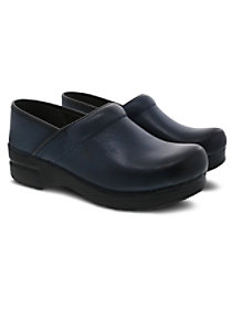 Navy Burnished Nubuck Nursing Clogs