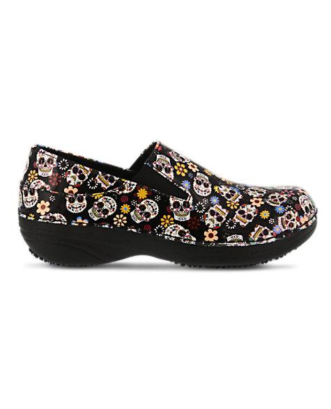12ab70b10 Spring Step Professional Ferrara Small Sugar Skull Slip-On Nursing Shoe