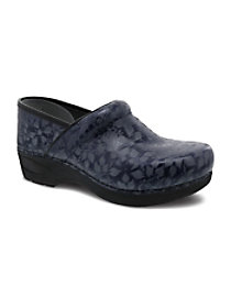 Navy Floral Nursing Clogs