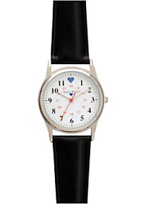 Nurse Mates Chrome Military Style Nurses Watches