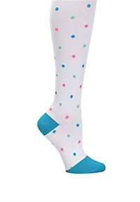 Nurse Mates Polka Dot Compression Trouser Socks