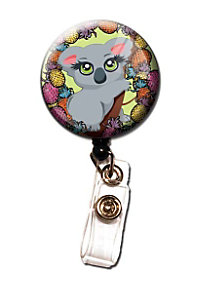 Initial This Exotic Animal Retractable Badge Holders