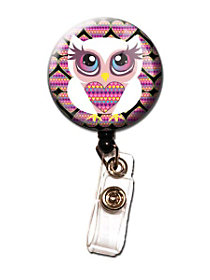 Heart Owl Retractable Badge Holder