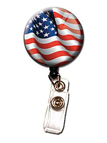 Patriotic Retractable Badge Holder