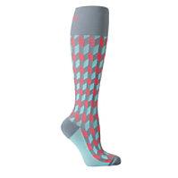 About The Nurse Coral Chevron Compression Socks