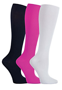 Cherokee Legwear  Knee High 3 Pack 12 mmHG Compression Socks