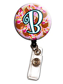 Coconut Letter Retractable Badge Holders