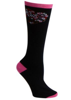 Floral My Heart Print Socks