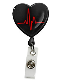 EKG Heart Badge Holders