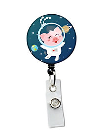 Space Pig Retractable Badge Holder