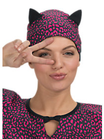 Animal Print Scrub Cap