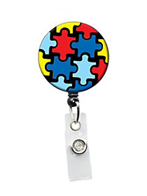 Autism Awareness Badge Holders