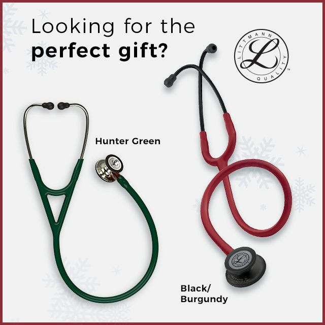 Looking for the perfect gift? What about a hunter green or burgundy stethoscope from Littmann?