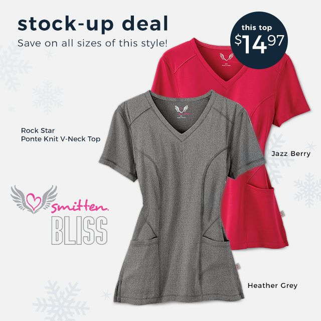 Stock-up deal: Just $14.95 for the Rock Star Ponte Knit V-Neck Top by Smitten Bliss. Save on all sizes.