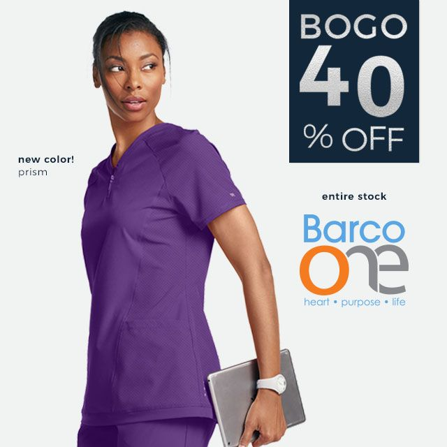 Buy one, get one 40% off! Entire stock of Barco One.