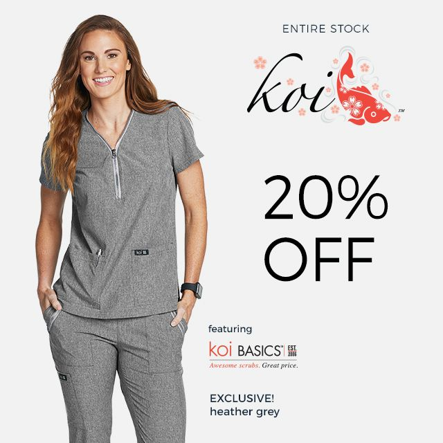 Entire stock of Koi is 20% off!