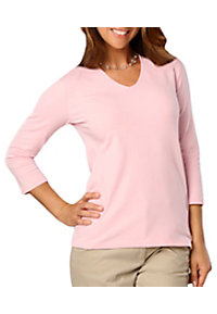 Blue Generation Ladies 3/4 Sleeve V-neck Tees