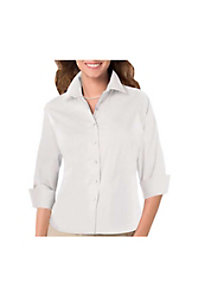 Blue Generation Ladies 3/4 Sleeve Poplin Shirt