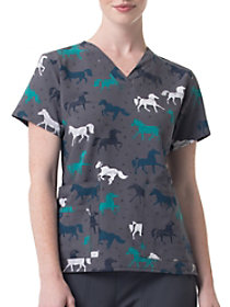 Gallop Grace V-Neck Print Top