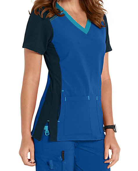 56b749fd6d2 Carhartt CROSS-FLEX color block scrub top. | Scrubs & Beyond
