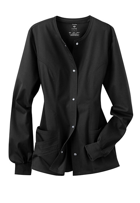 Cherokee Luxe Snap Front Warm Up Scrub Jacket | Scrubs ...