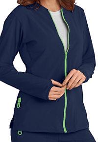 Carhartt Cross-Flex Knit Mix Zip Front Scrub Jackets