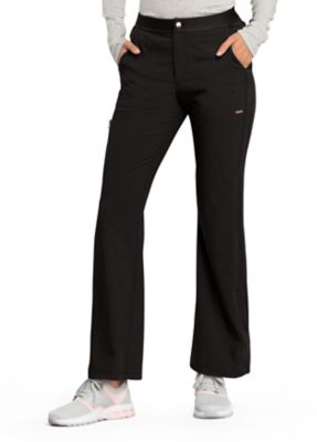 Statement By Cherokee Flare Leg Zip Fly Scrub Pants