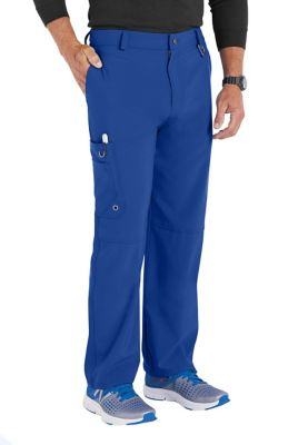 Infinity By Cherokee Mens Button Front Scrub Pants with Certainty