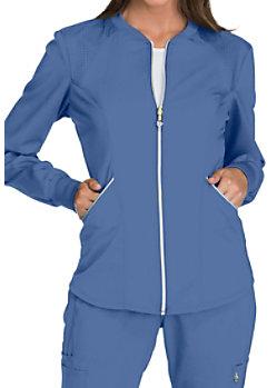 7c7455aaaaf Cherokee Luxe Snap Front Warm Up Scrub Jacket | Scrubs & Beyond
