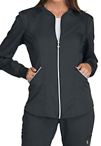 Cherokee Luxe Sport Zip Front Warm-Up Scrub Jackets