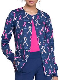 Rosy Ribbons Print Jacket