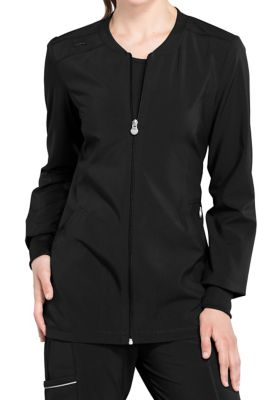 Infinity By Cherokee Zip Front Scrub Jackets With Certainty
