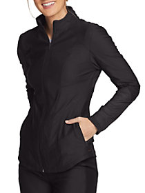 Mesh Accent Zip Front Jacket