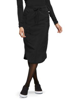 Elastic Waistband Drawstring Skirt with Certainty