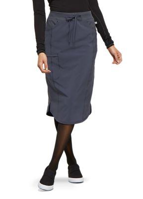 Infinity By Cherokee Elastic Waistband Drawstring Scrub Skirt With Certainty