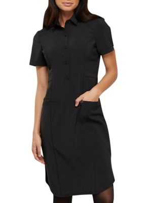 Infinity By Cherokee Button Front Scrub Dress With Certainty