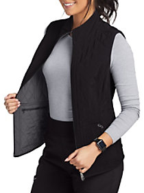 Mock Neck Reversible Quilted Vest