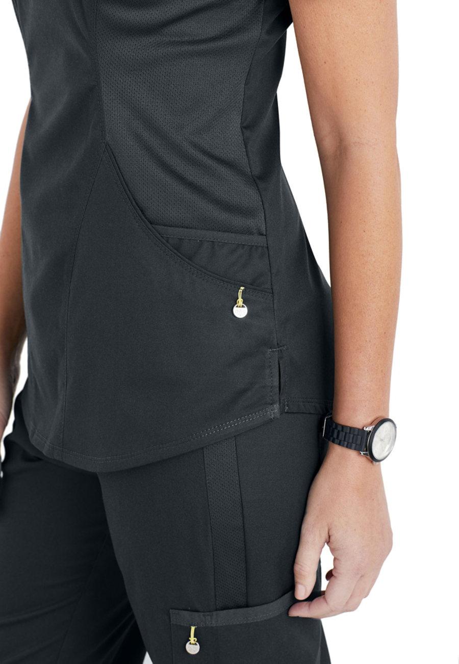 51c8e322685 Cherokee Luxe Sport Mock Wrap Scrub Tops | Uniform City