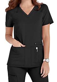 Cherokee Iflex V-Neck Knit Panel Scrub Tops