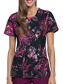Night Garden V-Neck Print Top